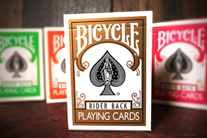 Bicycle Rider Back Gold